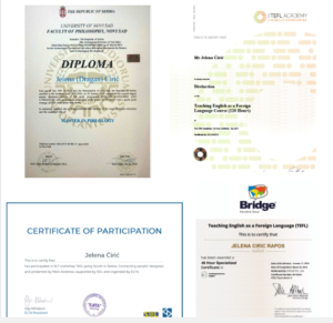 TEFL sertifikat, Masterska diploma iz engleskog jezika, Poslovni TEFL, Business English sertifikat